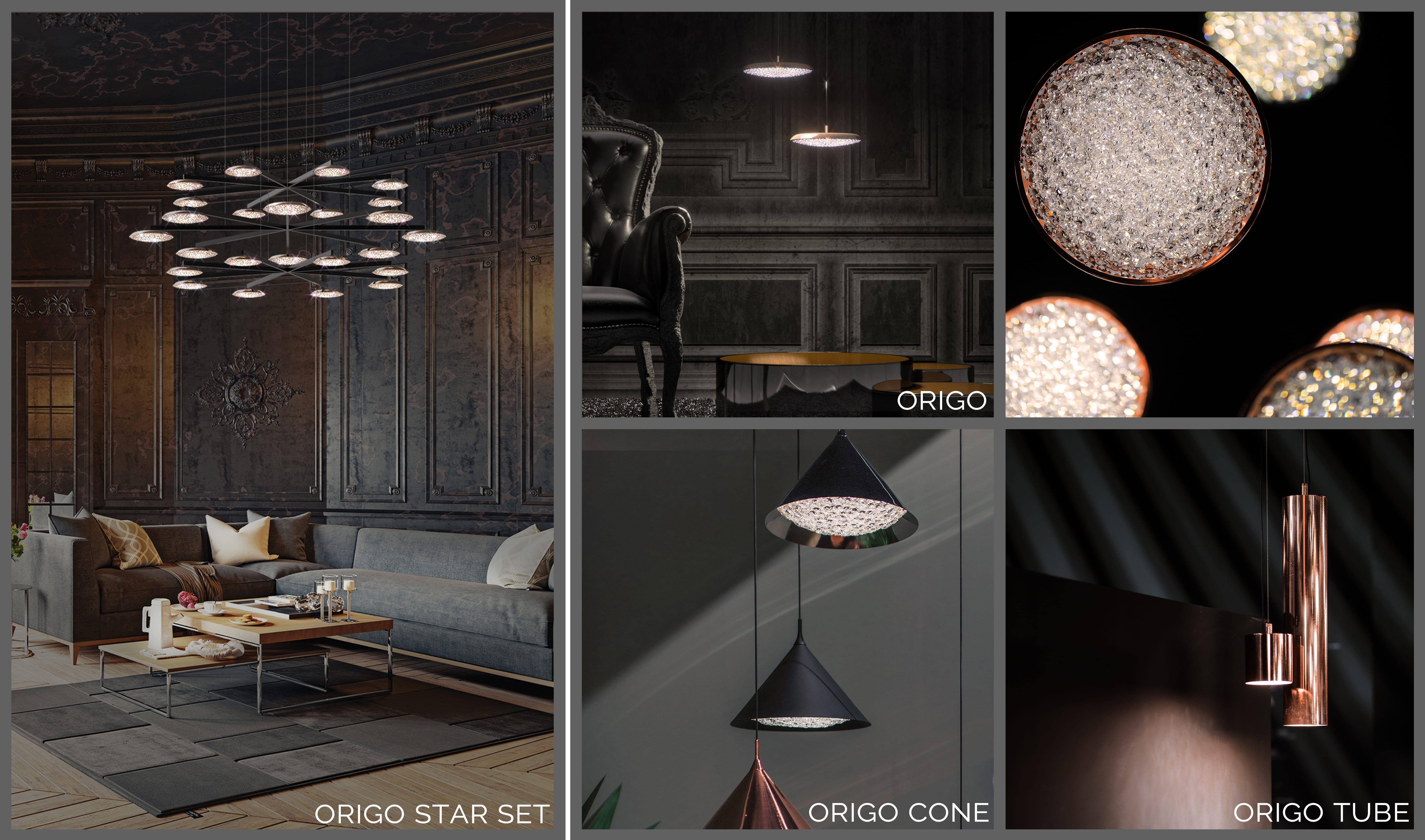 Modern-yet-elegant ORIGO, Manooi Crystal Chandeliers