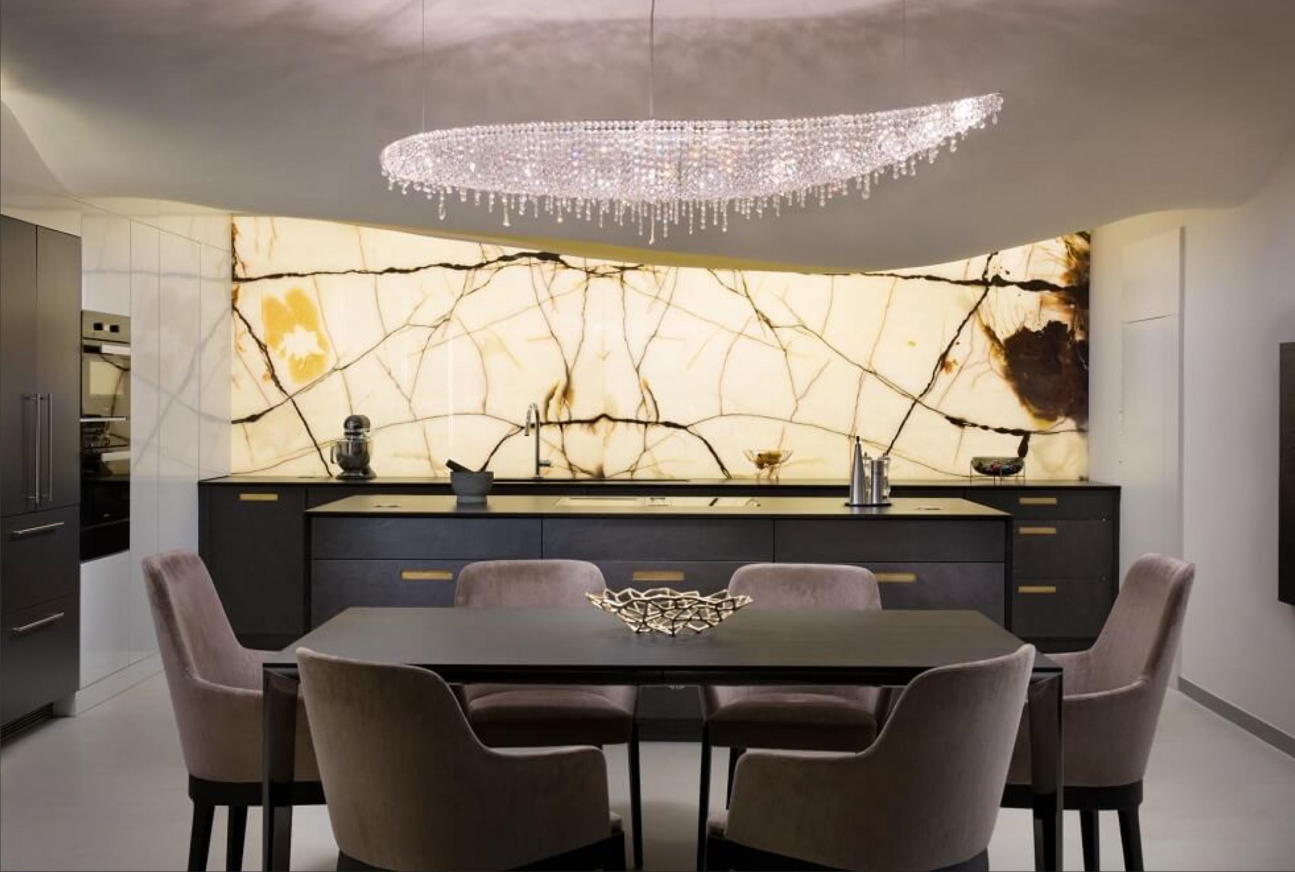 vague crystal chandelier