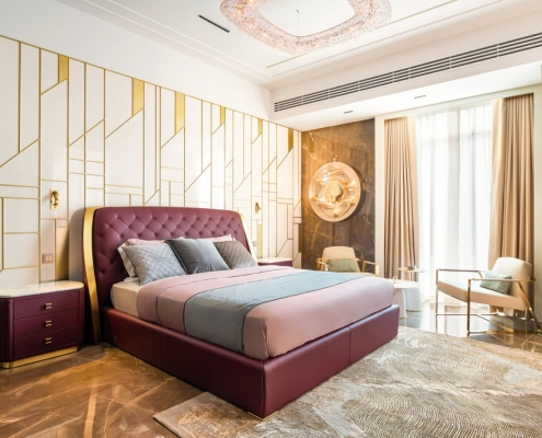 OENO in a luxury bedroom in Dubai