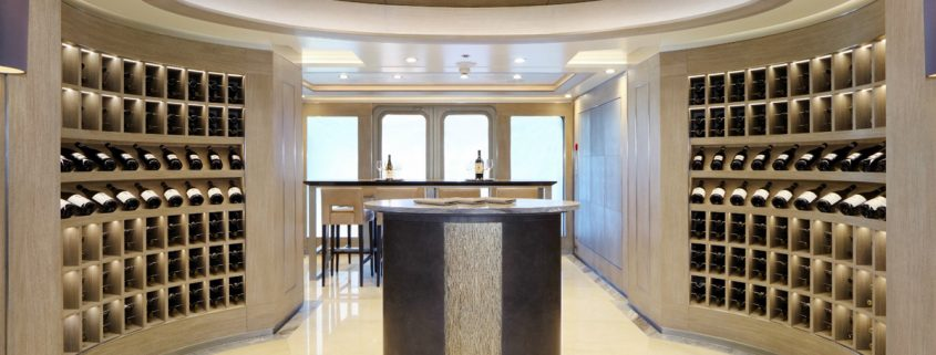 ARTICA crystal chandelier on a yacht, Manooi Crystal Chandeliers