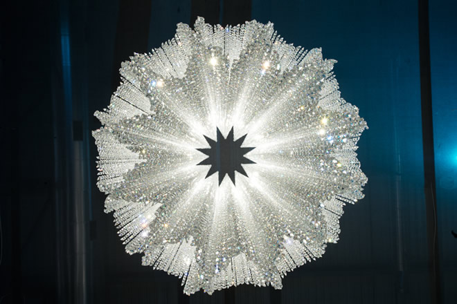 Burj, Manooi Crystal Chandeliers