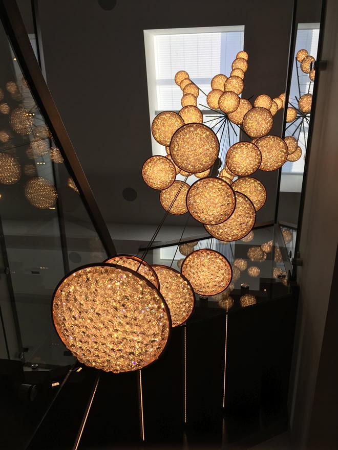 Современный шик в Швеции, Manooi Crystal Chandeliers