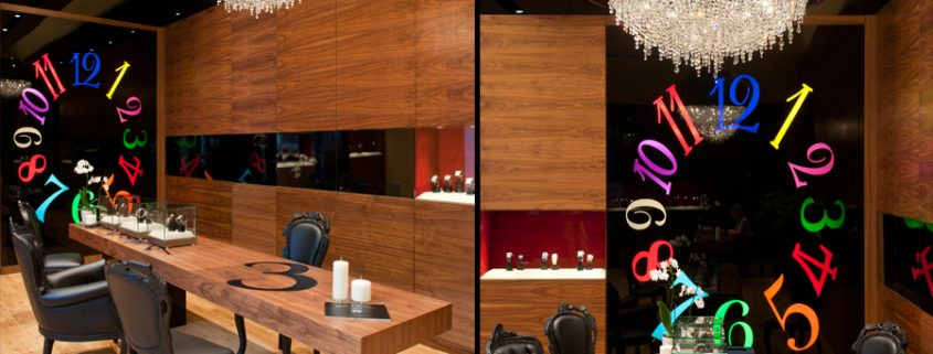 OZERO at Franck Muller Showroom, Manooi Crystal Chandeliers