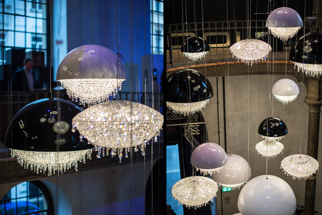 Stunning Composition at Austria's Home Depot 2014, Manooi Crystal Chandeliers
