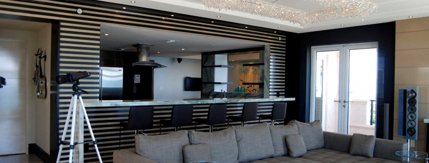 Koi Chandelier in a Luxury Apartment in Miami, Manooi Crystal Chandeliers
