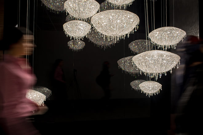 Light+Building 2014, Manooi Crystal Chandeliers