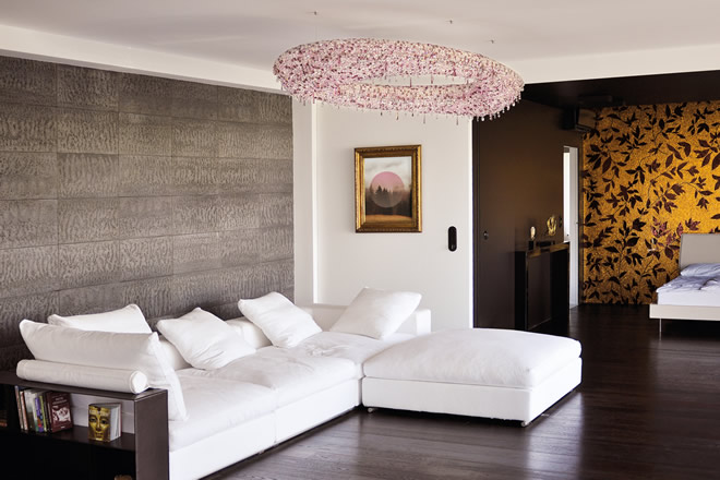Pink chandelier, Manooi Crystal Chandeliers