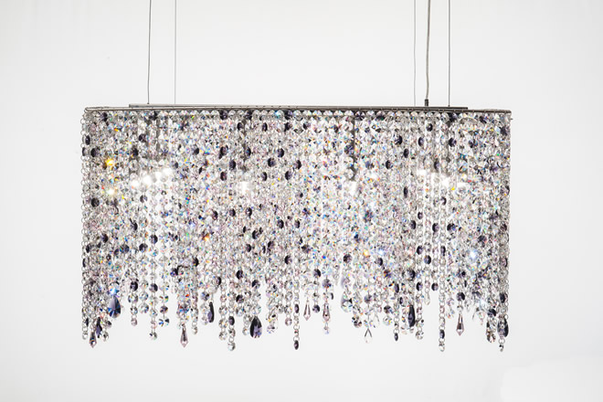 粉色的吊灯, Manooi Crystal Chandeliers