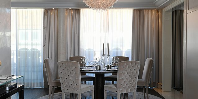 Integrating ICEBERG with the Birgit Otte Interiors, Manooi Crystal Chandeliers