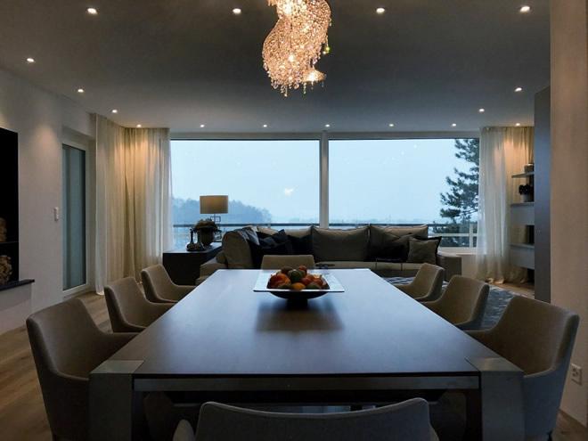 Villa in Svizzera, Manooi Crystal Chandeliers