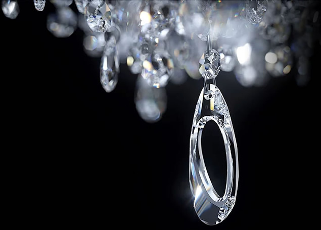 Crystal Chandeliers with Swarovski Collaboration