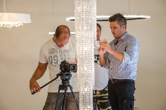TV2 interview, Manooi Crystal Chandeliers